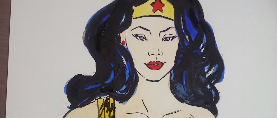 WONDER WOMAN MET W&N DESIGNERS GOUACHE