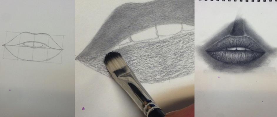 Hedendaags Een stap voor stap uitleg van het tekenen van een realistische mond. LM-25