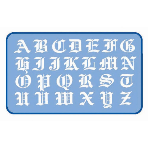 30mm Lettersjabloon Old English Alles Om Te Tekenen Kleuren En